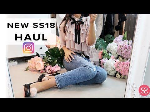 AMAZING INSTAGRAM FASHION HAUL & TRY-ON | SS18 | Sophie Shohet