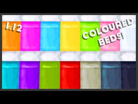 Minecraft - How To Make Coloured Beds! 1.12