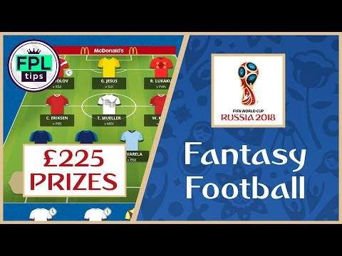 WORLD CUP FANTASY FOOTBALL 2018: Join Our £225 Prize League!