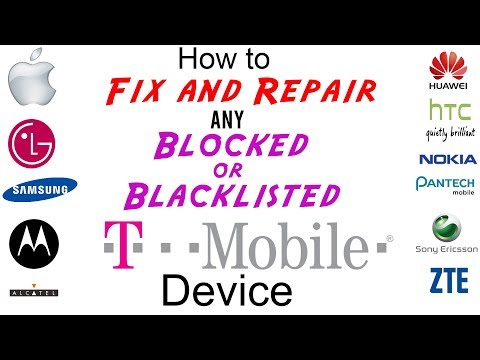 Unblock / Fix / Unblacklist / Repair T-Mobile IMEI Cleaning for ANY Blocked or Blacklisted Device!