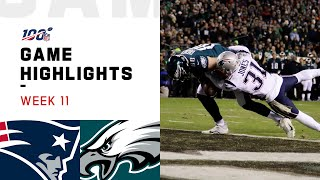 Patriots vs. Eagles Week 11 Highlights | NFL 2019