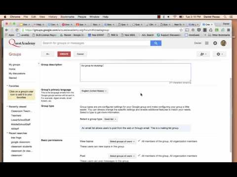 Creating Google Groups and Adding People to Them