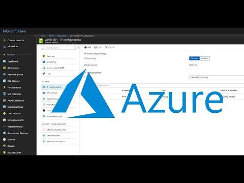 Assign a Static IP Address to a Microsoft Azure Virtual Machine