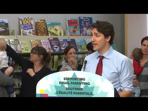 PM Trudeau delivers remarks on the Canada Child Benefit and shared parental leave in Regina