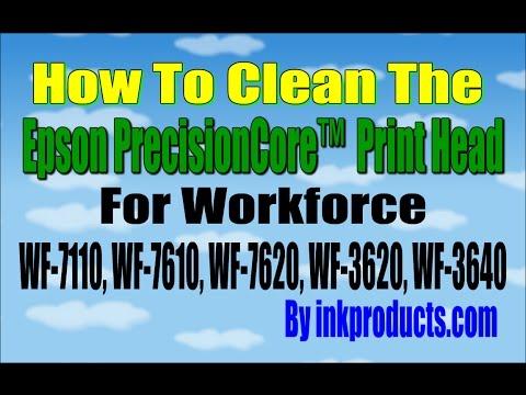 How to remove the Epson WF 7610, WF 3640, WF 7620, WF 3620, WF 7110 Print Head