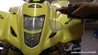 10 Oil Change in Suzuki LTZ 400 - Quad Quadsport Z400 Motu