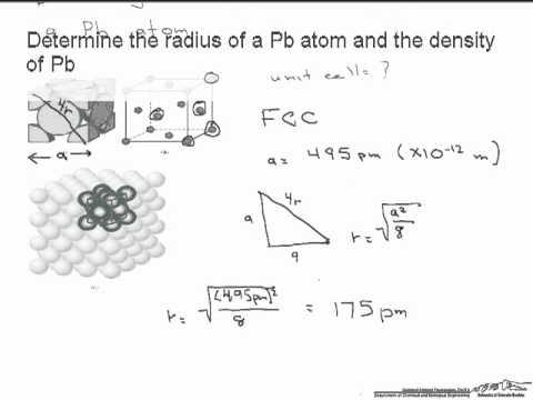 Radius of a Metal Atom and Metal Density