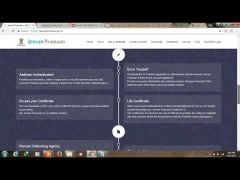How to make Jeevan Parman patra ( Life Certificate ) online For Pension certificate