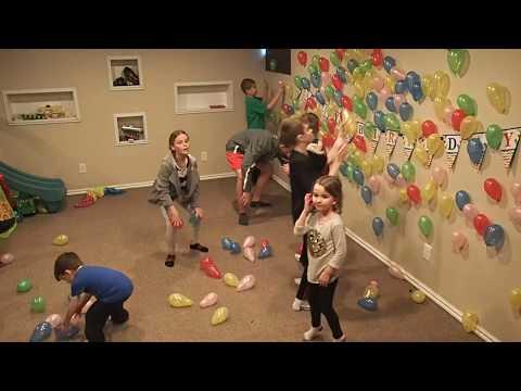 Shane's 5th Birthday - Balloon Fun! Time Lapse