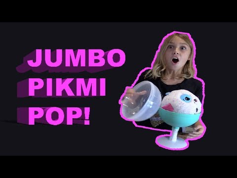 JUMBO Pikmi Pops Surprise Toy Scented Plush with Charms