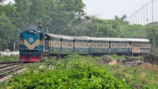 Tangail Commuter fleeting through Banani Rail Curve || Bangladesh Railway