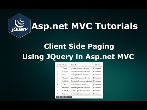 Client Side Paging Using JQuery in Asp.net MVC