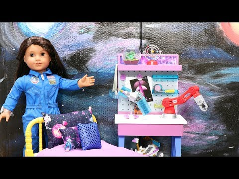 DIY Galaxy Dollhouse Wall for American Girl Doll Bedroom!