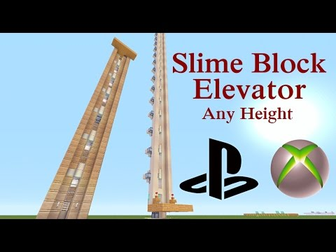 Minecraft Tutorial : Simple Slime Elevator for Xbox & Playstation