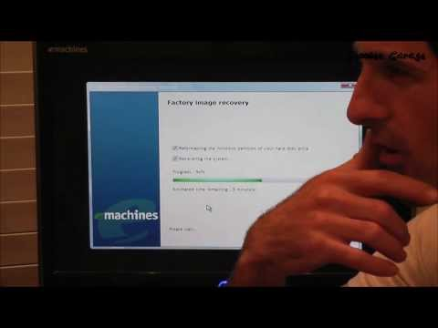 How To Factory Restore Windows Vista - Emachines Or Gateway PC