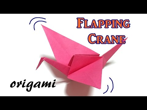 Origami flapping crane step by step | How to make a paper flapping bird tutorial easy for kids