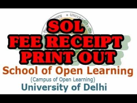 HOW TO SOL FEE RECEIPT PRINT OUT / DOWNLOAD