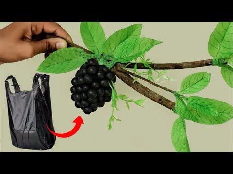 Best out of Waste Idea || Handmade Grapes Decoration Using Plastic Bag || DIY Room Decor Idea