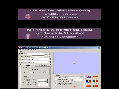Générateur de codes de déblocage Nokia