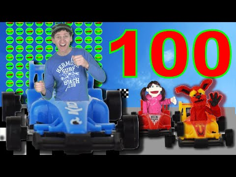 Learn to Count 1 to 100 Numbers with Race Cars Song | Learn English Kids