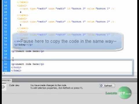 creating a feedback form in DreamWeaver CS3