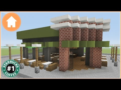 Minecraft Tutorial: How to Build a Starbucks in Minecraft #1