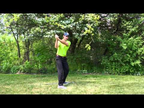 The Golf Swing Simplified With This Home Drill - Swing Natural Like Baseball