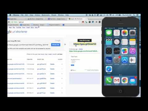 How to link a Google Form to an IOS device's home screen