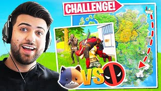 What Happens When You CARRY Deadpool To Meowscles! (REVENGE!) - Fortnite Battle Royale Challenge