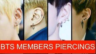 BTS MEMBERS PIERCINGS