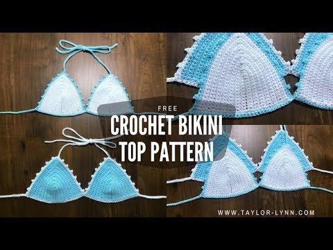 Simply Cute Crochet Bikini Top Tutorial