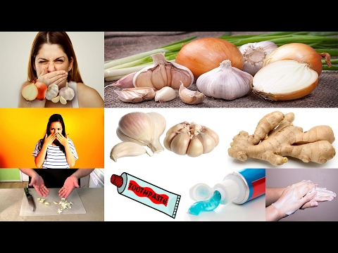 How to Get Garlic, Ginger And Onion Smell Off Your Fingers And Hands|Get Rid of Onion / Garlic Smell