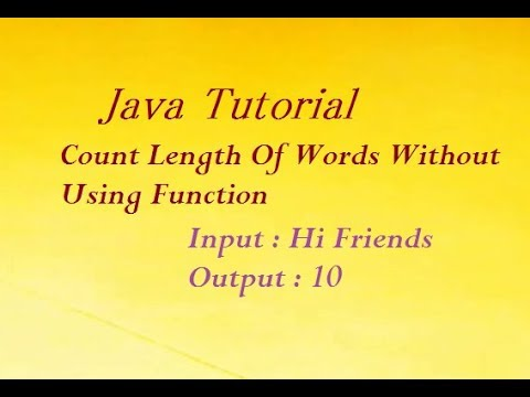 Java Program To Count Length Of Words Without Using Function