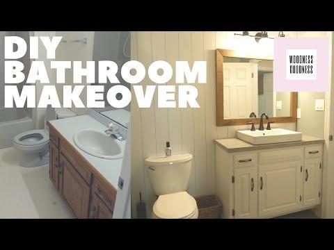 Cheap DIY Bathroom Makeover