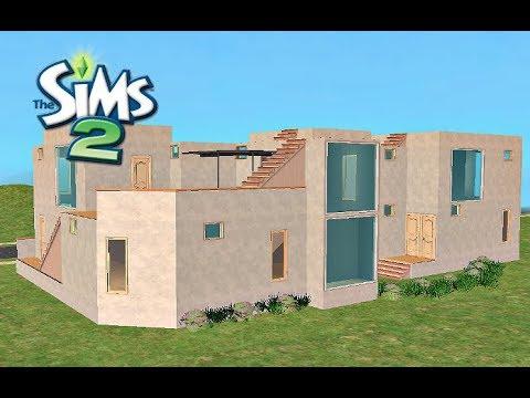 ♢ Modern Grey Villa ♢ The Sims 2 ♢