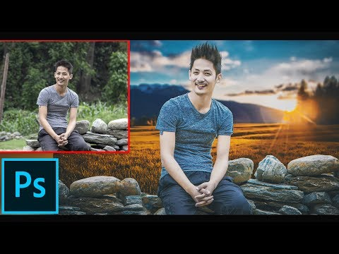 Photoshop Manipulation Tutorial | Change Background And Color Grading