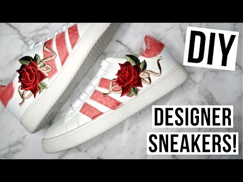 DIY // How to Make Custom ADIDAS & GUCCI Inspired Floral Sneakers!
