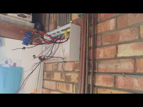 Time lapse of Changing an old fuse box to a new consumer unit