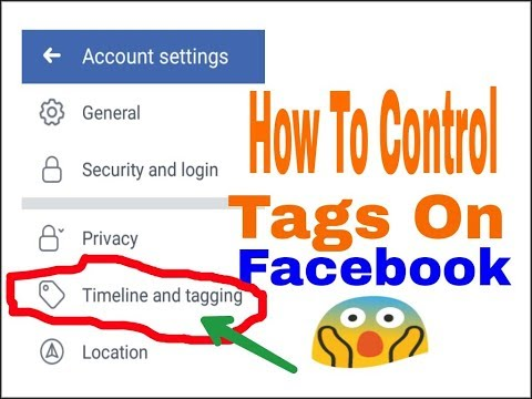 How To Control Timeline & Tagging On Facebook | How To Prevent / Stop Tags On FB .