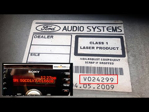 Ford Radio Codes From Serial Number V, M, C7, BP - Find & Decode Online Today