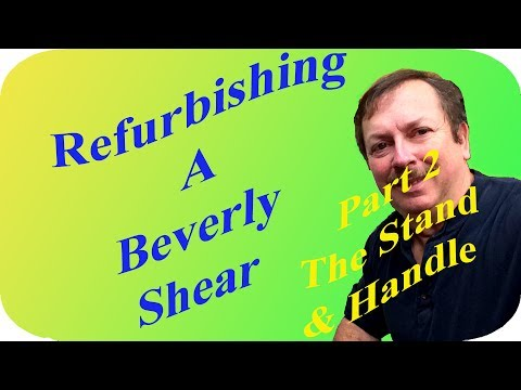 Refurbishing A Beverly Shear for my zenith 701 experimental airplane project Part 2: The Stand