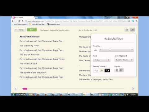 Kobo Cloud Reader Hands on Review