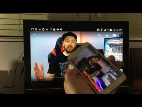 SCREEN MIRROR WIRELESSLY TO HDTV- MOST SAMSUNG GALAXY PHONES