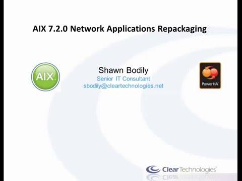 AIX 7.2 Network Applications repackaging