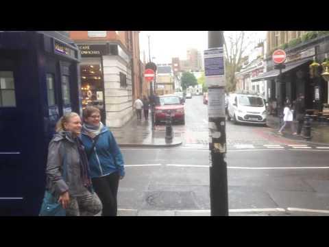 Tardis lands at Earls Court Tube Station, London, UK