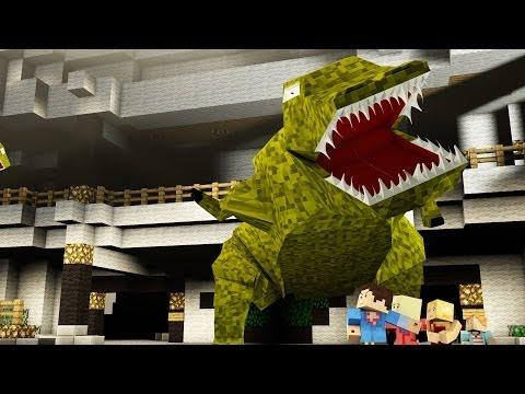 Minecraft Parody - JURASSIC PARK! - (Minecraft Animation)