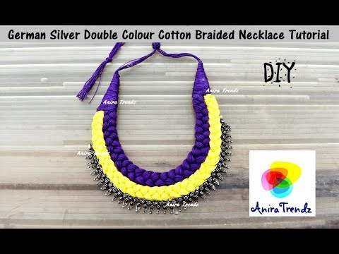 How to make german silver braided necklace at home Double Colour - Easy Simple Beatutiful DIY