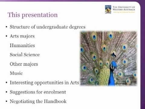 UWA Bachelor of Arts: understanding your degree