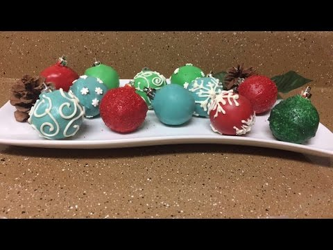 Cake Pop Christmas Ornaments