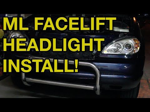 Mercedes-Benz ML Headlight Removal and Facelift Upgrade (W163)